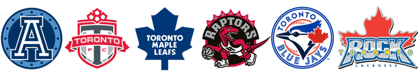 Toronto Argonauts, FC, Maple Leafs, Raptors, Blue Jays och Rock